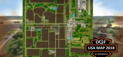 Мод карта OGF USA MAP 2018 V2.0 Farming Simulator 17