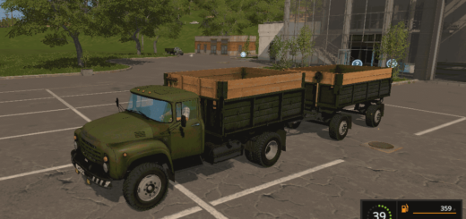 Мод грузовик ЗиЛ-130 и прицеп ГКБ v1.4 Фарминг Симулятор 2017