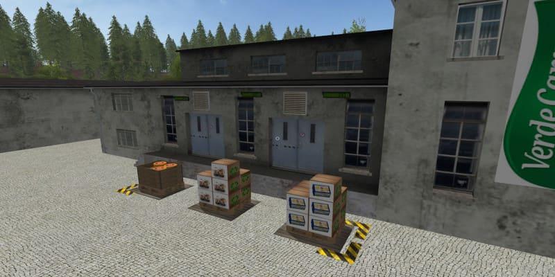 Мод производство DAIRY AGROS PLACEABLE V1.0 Farming Simulator 17