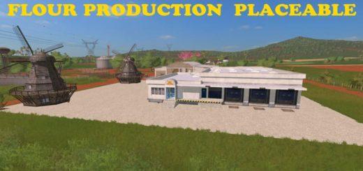 Мод производство FLOUR PRODUCTION PLACEABLE V1.0 FS17