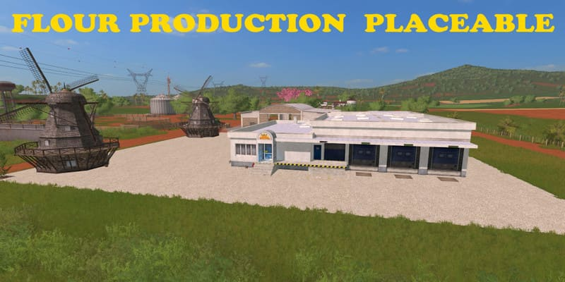 Мод производство FLOUR PRODUCTION PLACEABLE V1.0 FS17