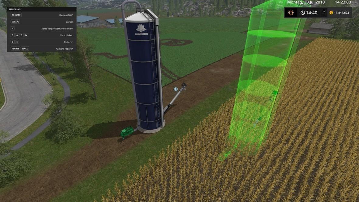 Мод ПАК HARVESTORE SILO PLACEABLE V1.0.0 Farming Simulator 2017