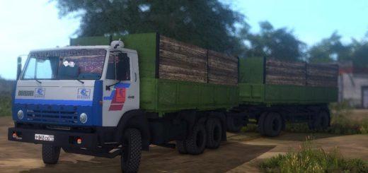 Мод ПАК грузовиков КамАЗ-55102 v1.2 Фермер Симулятор 2017