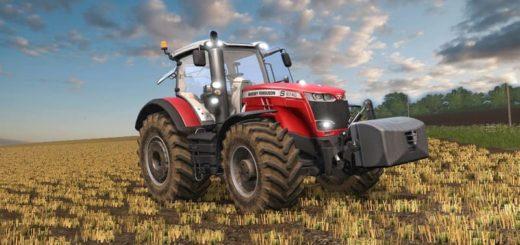 Мод трактор MASSEY FERGUSON 8700S V2.1 Farming Simulator 17