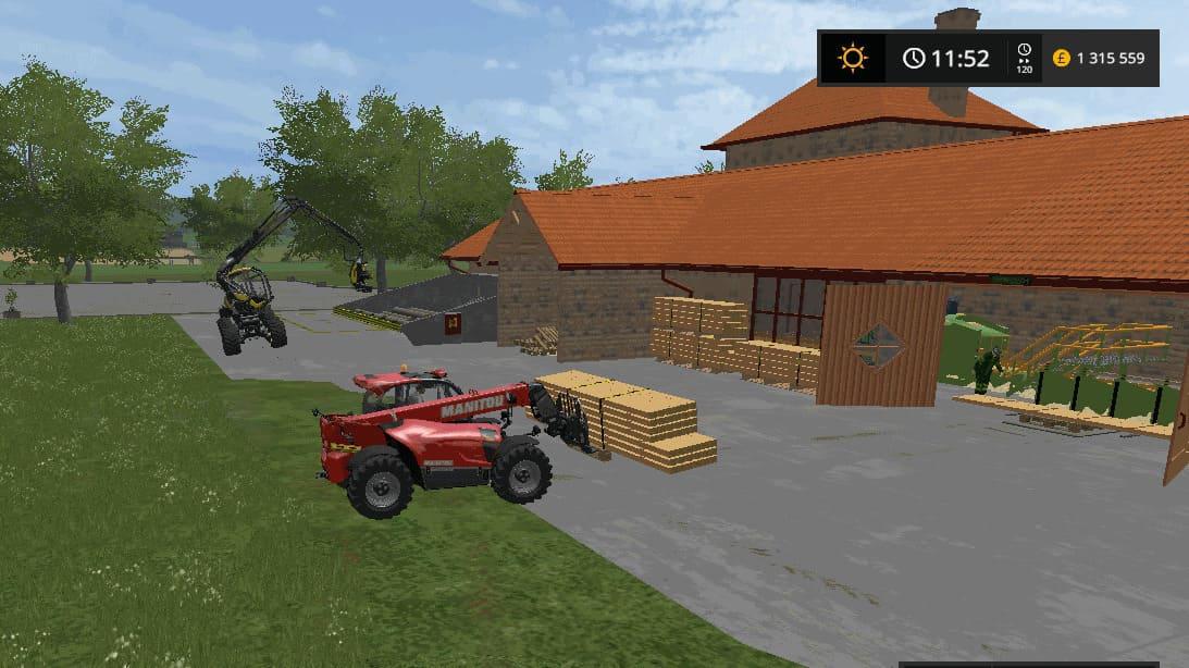 Мод производство TARTAK SAWMILL SEBA J V1.0 Farming Simulator 2017