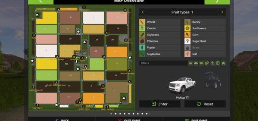 Мод карта VALLEY OF CANE V1.0.0.0 Farming Simulator 2017
