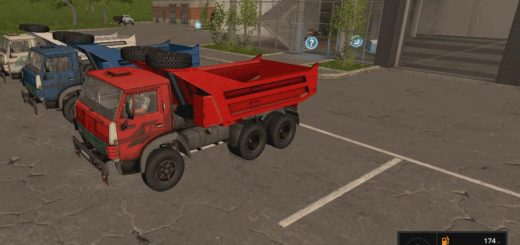 Мод грузовик КамАЗ-5511 v1.1 Фарминг Симулятор 2017