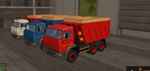 Мод грузовик КамАЗ-65115 v1.0 Фермер Симулятор 2017