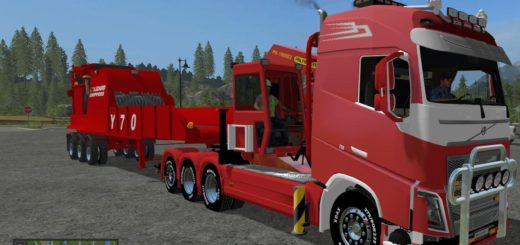 Мод грузовик VOLVO FH16 750 LOGGING V1.0.0 Farming Simulator 2017