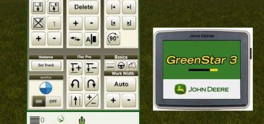 Мод скрипт AGRAGPS JOHN DEERE AUTOTRAC MOD V1.0.0.0 Farming Simulator 17