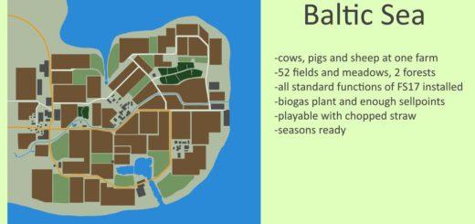 Мод карта BALTIC SEA V1.1.0.0 Farming Simulator 2017