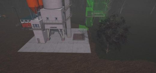 Мод хранилище CONSTRUCTION SITES SILO PLACEABLE V1.0 FS17