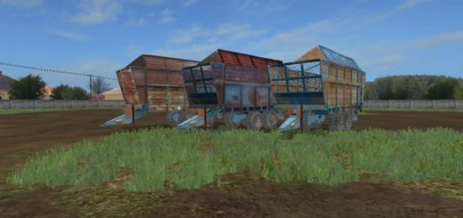 Мод ПАК прицепов FORTSCHRITT T088 PACK V1.0 Farming Simulator 17