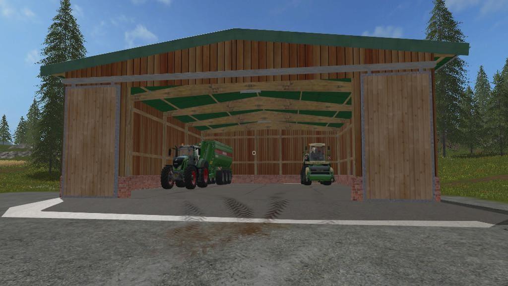 Мод гараж HALL V1.0.0.0 Farming Simulator 2017
