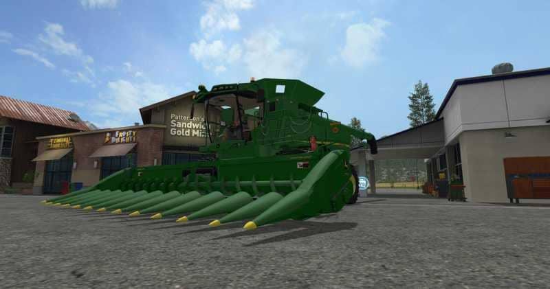 Мод жатка JOHN DEERE 612C V1.1 Farming Simulator 2017