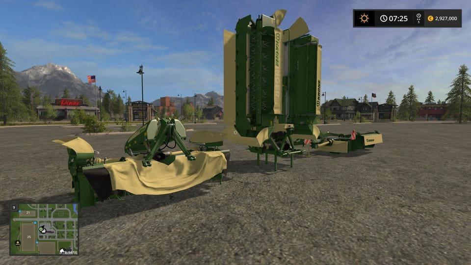 Мод ПАК сенокосилок KRONE EASY CAT PACK V1.0.0 Farming Simulator 2017