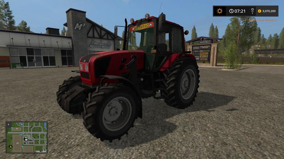 Мод трактор МТЗ 1220.3 v2.1 Фарминг Симулятор 2017