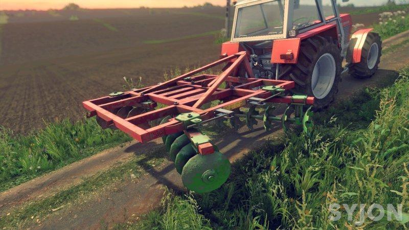 Мод культиватор MARTECH P-315 DISC HARROW V1.0 Farming Simulator 2017