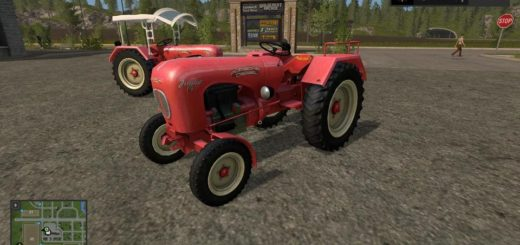 Мод трактор PORSCHE JUNIOR V1.1 Farming Simulator 17