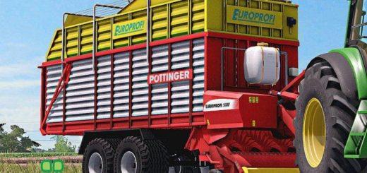 Мод прицеп POTTINGER EUROPROFI 5000 V1.0 Farming Simulator 17