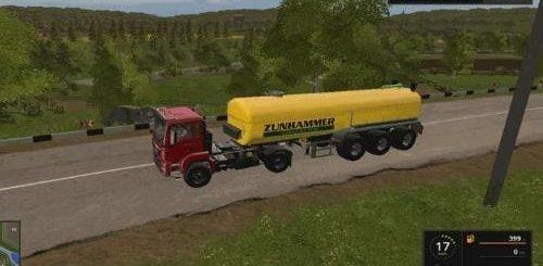 Мод прицеп Zunhammer Zubringer v 1.1 Farming Simulator 2017