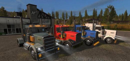 Мод грузовик Kenworth W900 Package V1.2.0.0 Farming Simulator 2017