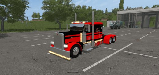 Мод тягач TRUCK PETERBILT FLATTOP V1.1 Farming Simulator 2017