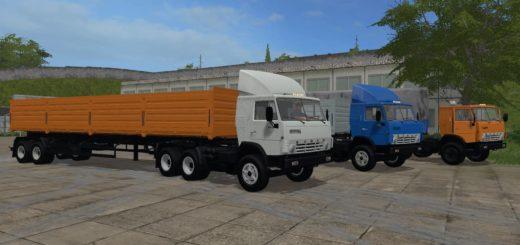 Мод грузовик КАМАЗ-5410 и НЕФАЗ-93344 V2.0 Фермер Симулятор 2017