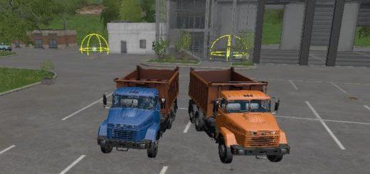 Мод ПАК грузовиков КрАЗ 65055 Ферме Симулятор 2017