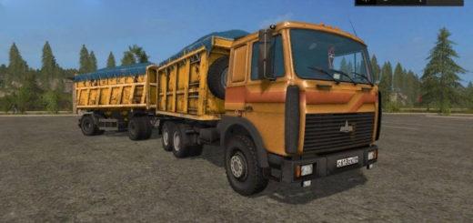 Мод грузовик МАЗ 5516 САМОСВАЛ V2.2 Фермер Симулятор 2017