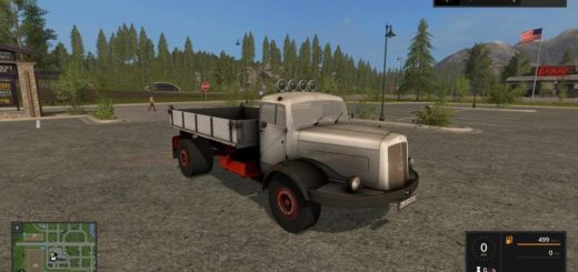 Мод грузовик MERCEDES BENZ 334K V1.0.1 Farming Simulator 17