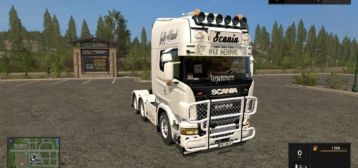 Мод грузовик SCANIA V8 V1.0.0.0 Farming Simulator 2017