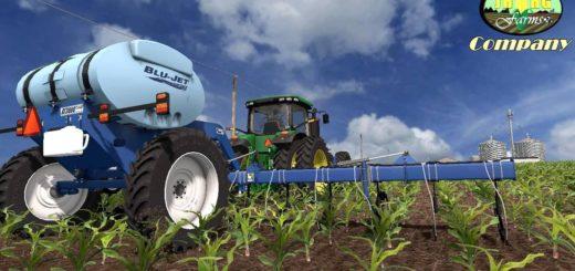 Мод опрыскиватель BLU-JET AT3000 V2.0 Farming Simulator 17