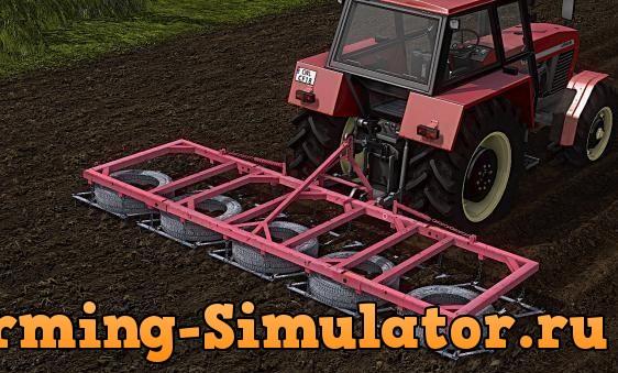 Мод культиватор BRONY 5 JAR-MET V1.1 Farming Simulator 2017
