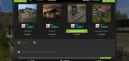 Мод ПАК City Economy v 1.0.0.4 beta Farming Simulator 17