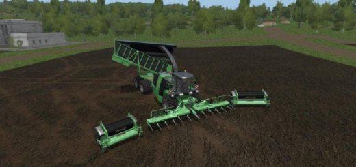 Мод комбайн KRONE BIG X 1100 CARGO V3.0 Farming Simulator 17
