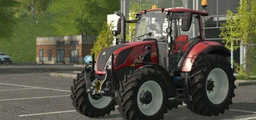 Мод трактор NEW HOLLAND T5 RED EDITION V1.0 Farming Simulator 17