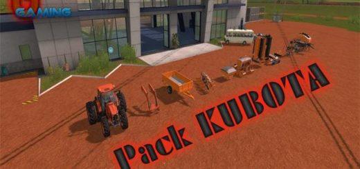 Мод ПАК PACK KUBOTA V1.0.0.1 Farming Simulator 17
