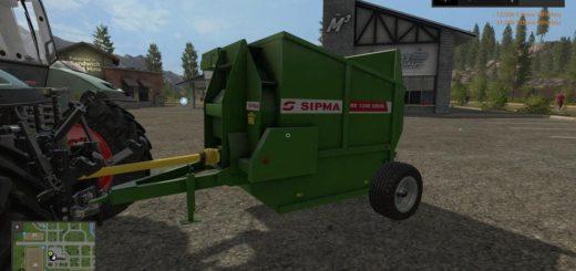 Мод измельчитель соломы SIPMA RB1200 V1.0.0.0 Farming Simulator 2017