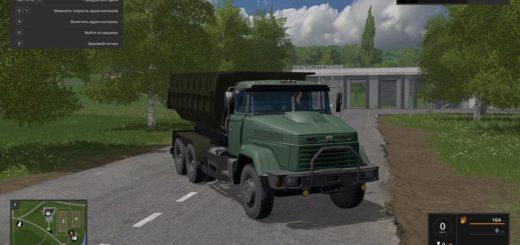 Мод грузовик KРАЗ 65055 v1.0.0.1 by Alex44Rus Фарминг Симулятор 2017