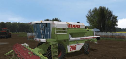 Мод комбайн MR СLAASMEGA 208 Farming Simulator 2017