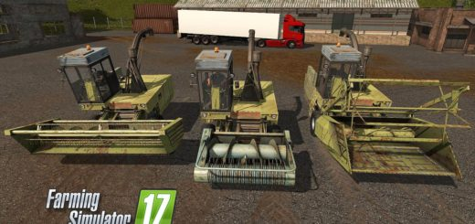 Мод ПАК комбайн Fortschritt E-281 V1.3 Farming Simulator 2017