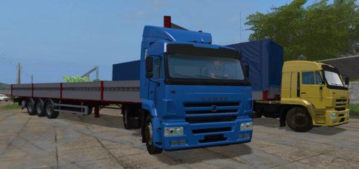 Мод грузовик КАМАЗ-5460 + ПОЛУПРИЦЕП KÖGEL V 1.0.0.0 Фарминг Симулятор 2017