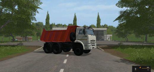 Мод грузовик КАМАЗ 65111 6Х6 И ПРИЦЕП НЕФАЗ 8502 V 1.1.0.0 Фермер Симулятор 2017