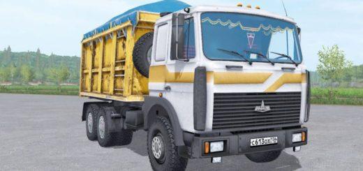 Мод грузовик МАЗ 5516 v3.2 Фермер Симулятор 2017
