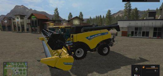 Мод комбайн NEW HOLLAND CR9 90 V1.0.0.0 Farming Simulator 17