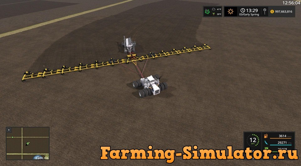 Мод сеялка ZELL'S 214FT SOWING RIG V1.3.0.0 Farming Simulator 2017