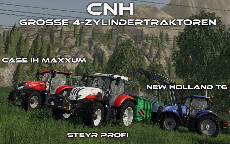 Мод ПАК FS19 CNH – Grosse 4-Zylindertraktoren v1.0 FS19