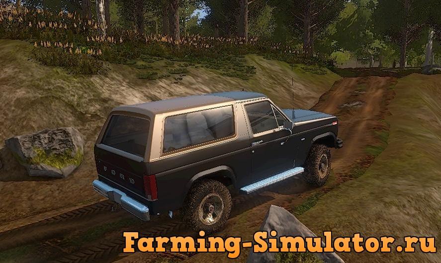 Мод авто FORD BRONCO V1.3 Farming Simulator 17