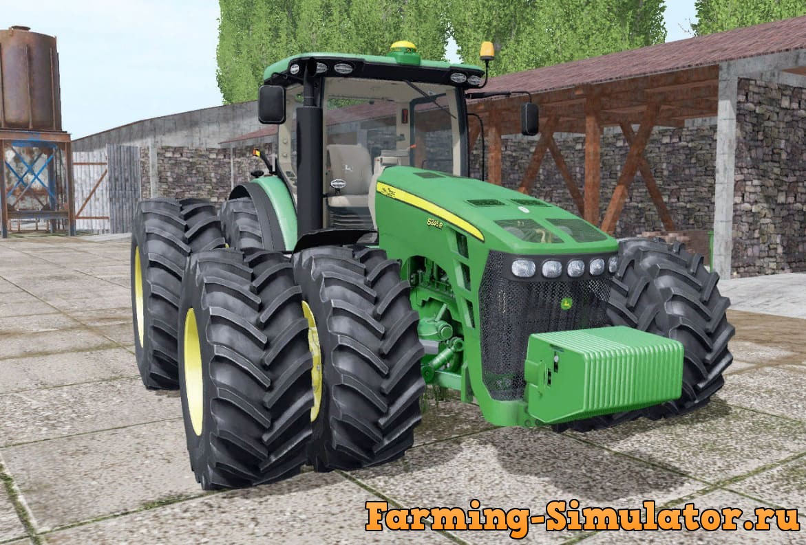 Мод трактор JOHN DEERE 8345R GREENSTAR V1.0 FS17